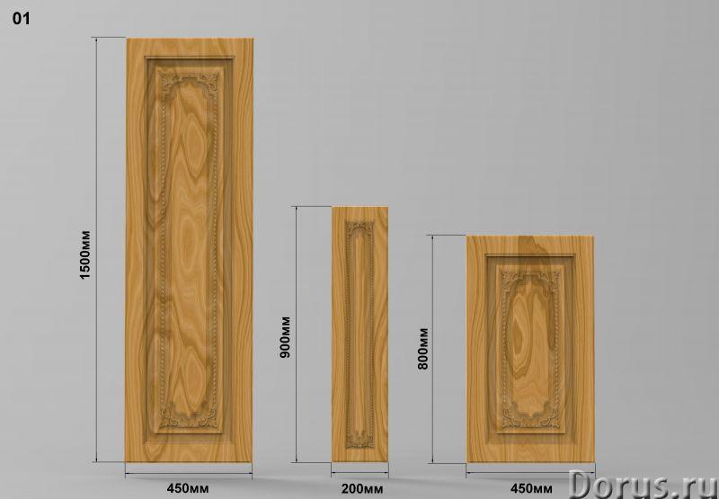 Мебельные фасады - Кухни - Мебельные резные фасады размер 1500х450мм; 800х450мм; 900х200мм есть скла..., фото 1