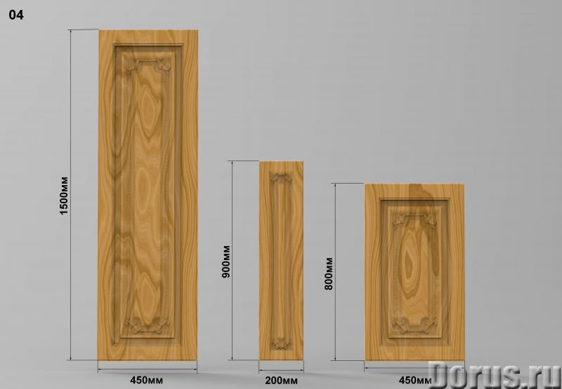 Мебельные фасады - Кухни - Мебельные резные фасады размер 1500х450мм; 800х450мм; 900х200мм есть скла..., фото 4